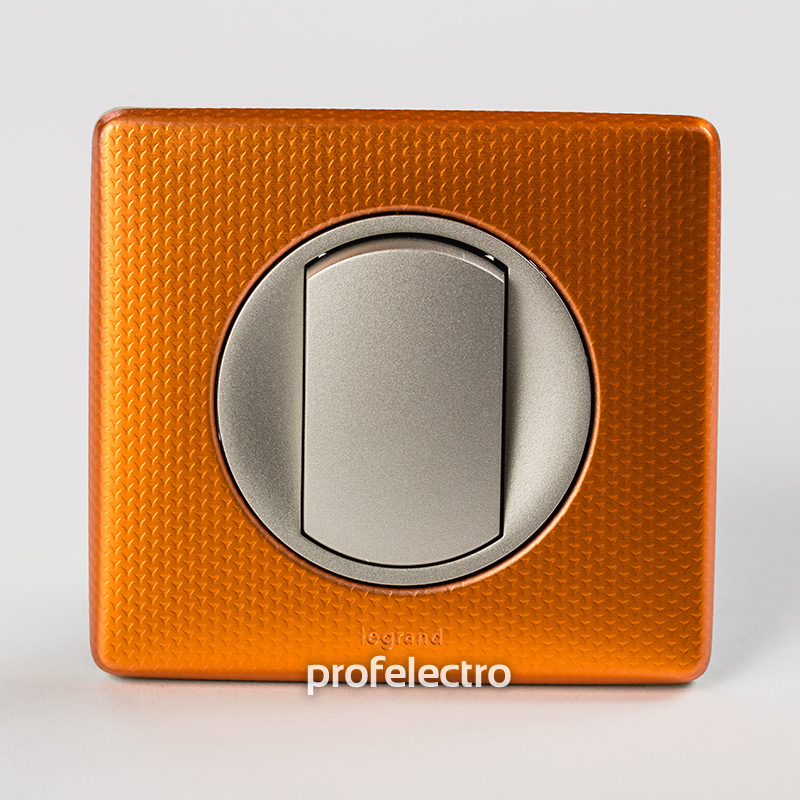 Рамка цвет оранж пунктум-панель титан Celiane
