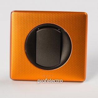 Рамка цвет оранж пунктум-панель графит Celiane Legrand на profelectro.com.ua