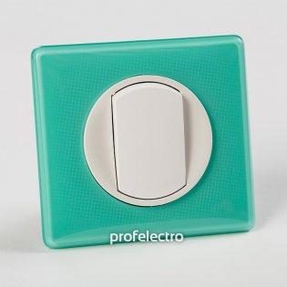 Рамка цвет бирюзовый муар-панель белая Celiane Legrand на profelectro.com.ua