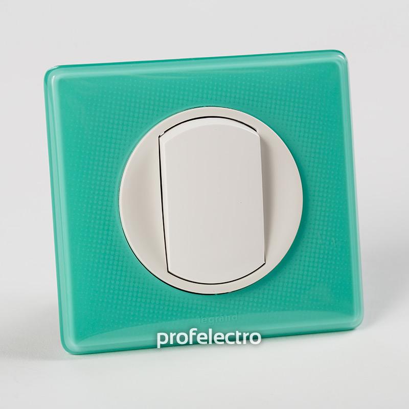 Рамка цвет бирюзовый муар-панель белая Celiane