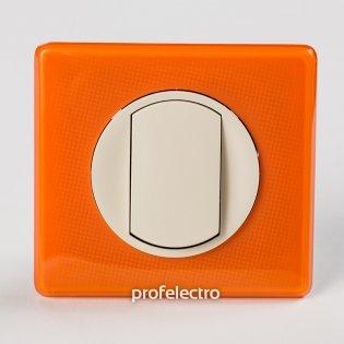 Рамка цвет оранжевый муар-панель слоновая кость Celiane Legrand на profelectro.com.ua