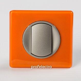Рамка цвет оранжевый муар-панель титан Celiane Legrand на profelectro.com.ua
