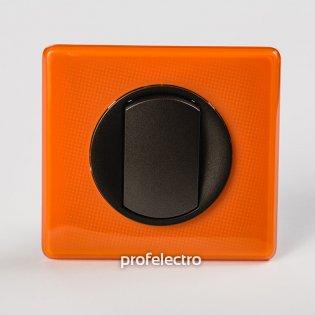Рамка цвет оранжевый муар-панель графит Celiane Legrand на profelectro.com.ua
