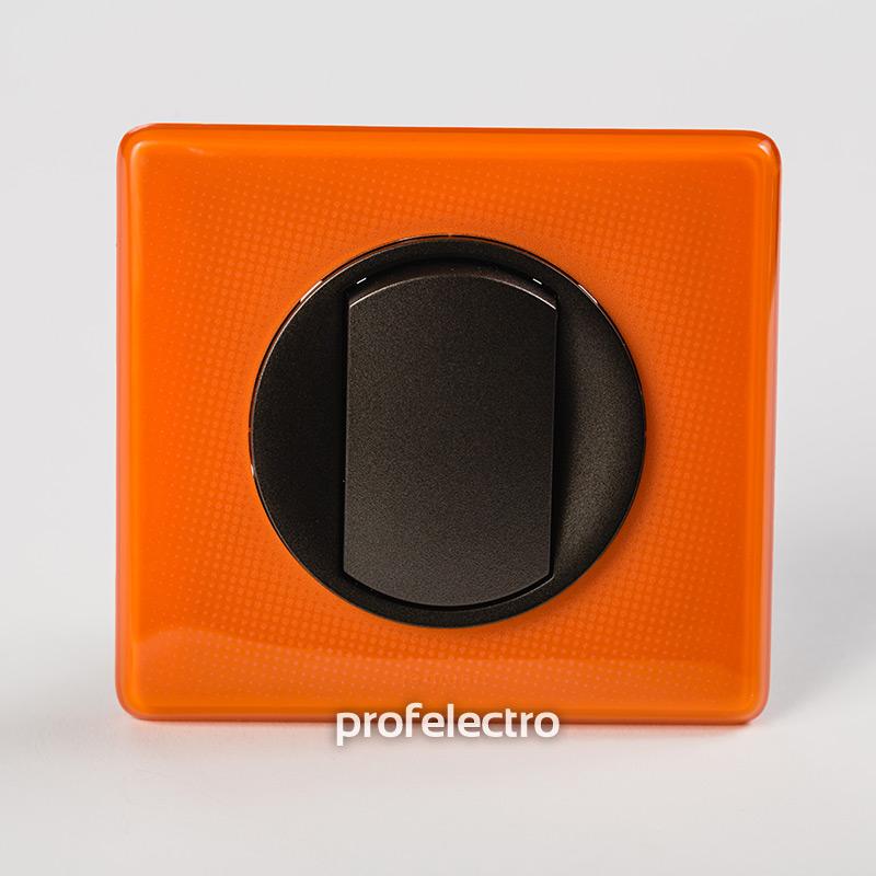Рамка цвет оранжевый муар-панель графит Celiane