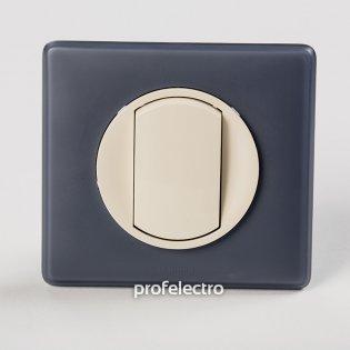 Рамка цвет фиолетовая перкаль-панель слоновая кость Celiane Legrand на profelectro.com.ua