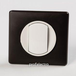 Рамка цвет черная перкаль-панель белая Celiane Legrand на profelectro.com.ua