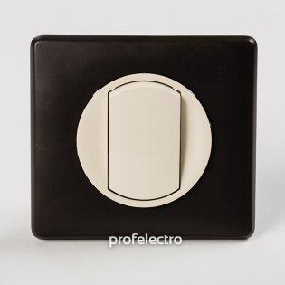 Рамка цвет черная перкаль-панель слоновая кость Celiane Legrand на profelectro.com.ua