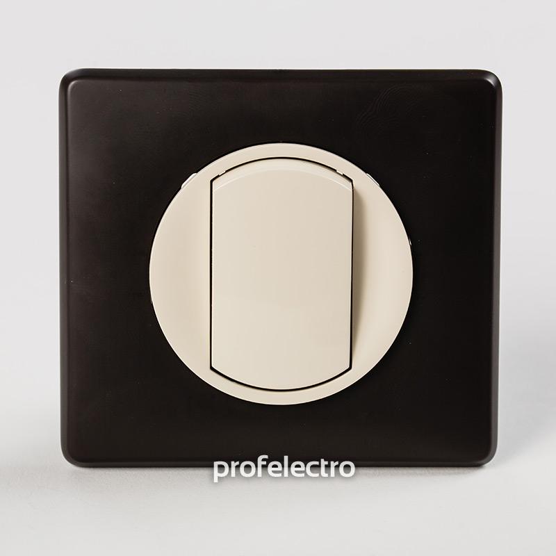 Рамка цвет черная перкаль-панель слоновая кость Celiane