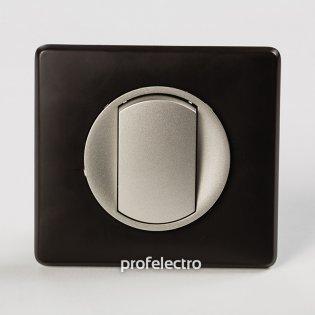 Рамка цвет черная перкаль-панель титан Celiane Legrand на profelectro.com.ua