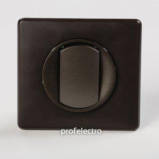 Рамка цвет черная перкаль-панель графит Celiane Legrand на profelectro.com.ua