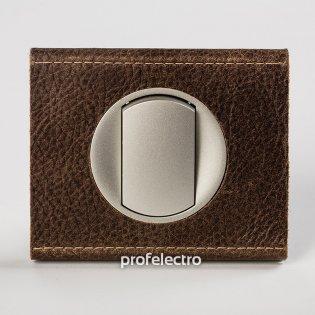 Рамка текстурированная кожа-панель титан Celiane Legrand на profelectro.com.ua