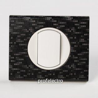 Рамка кожа цвет блек пиксель-панель белая Celiane Legrand на profelectro.com.ua