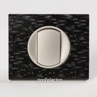 Рамка кожа цвет блек пиксель-панель титан Celiane Legrand на profelectro.com.ua
