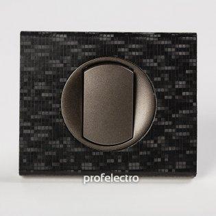 Рамка кожа цвет блек пиксель-панель графит Celiane Legrand на profelectro.com.ua