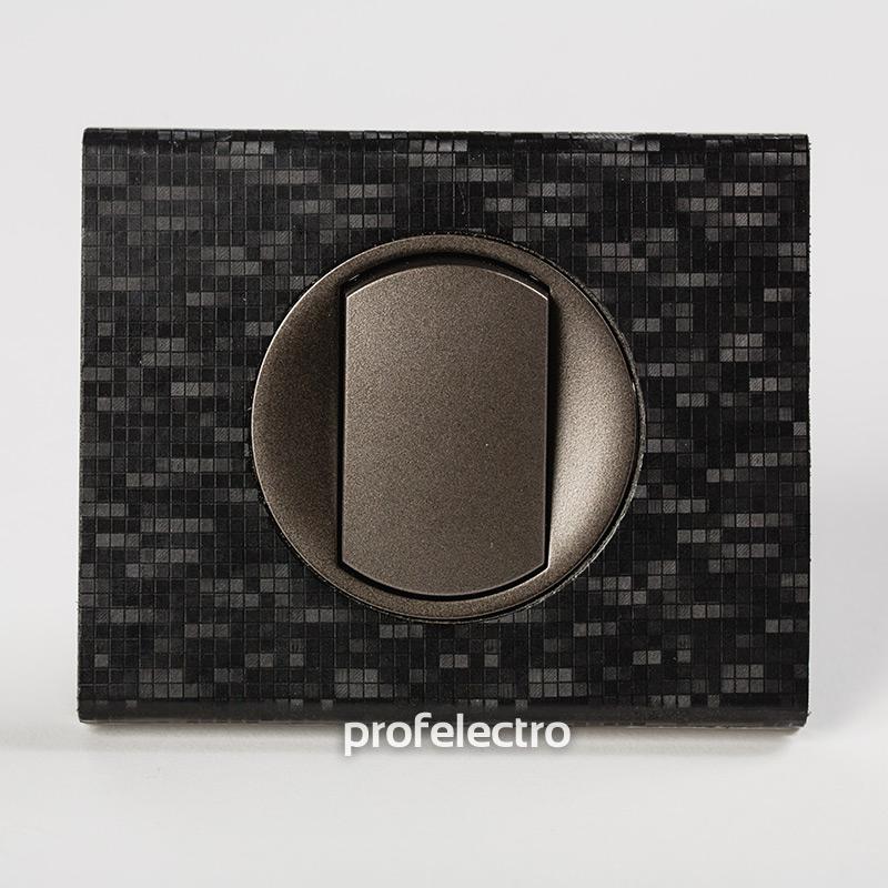 Рамка кожа цвет блек пиксель-панель графит Celiane