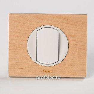 Рамка деревянная клен-панель белая Celiane Legrand на profelectro.com.ua