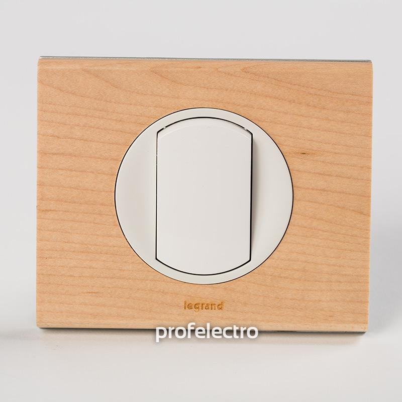 Рамка деревянная клен-панель белая Celiane