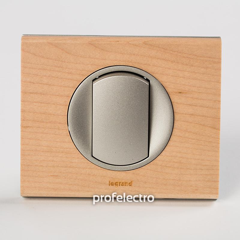 Рамка деревянная клен-панель титан Celiane
