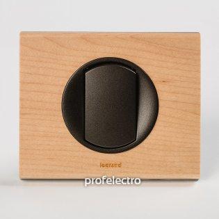 Рамка деревянная клен-панель графит Celiane Legrand на profelectro.com.ua