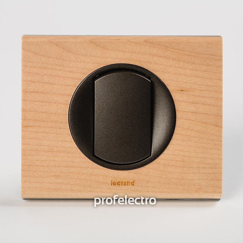 Рамка деревянная клен-панель графит Celiane
