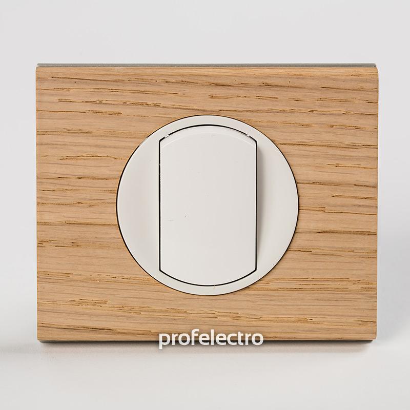 Рамка деревянная беленый дуб-панель белая Celiane