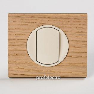 Рамка деревянная беленый дуб-панель слоновая кость Celiane Legrand на profelectro.com.ua