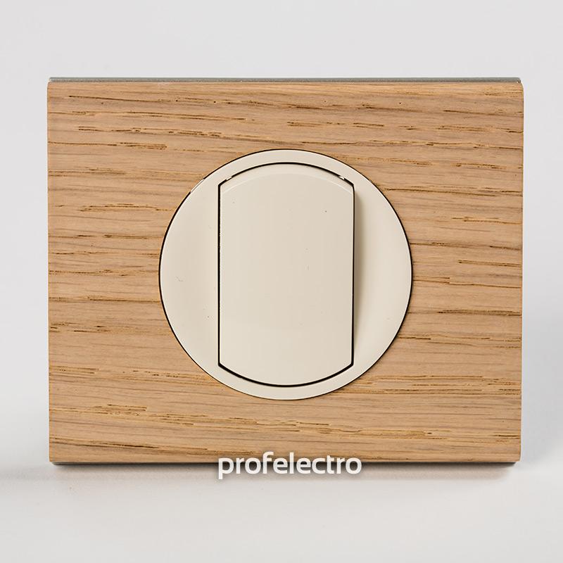 Рамка деревянная беленый дуб-панель слоновая кость Celiane