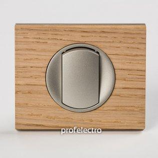 Рамка деревянная беленый дуб-панель титан Celiane Legrand на profelectro.com.ua