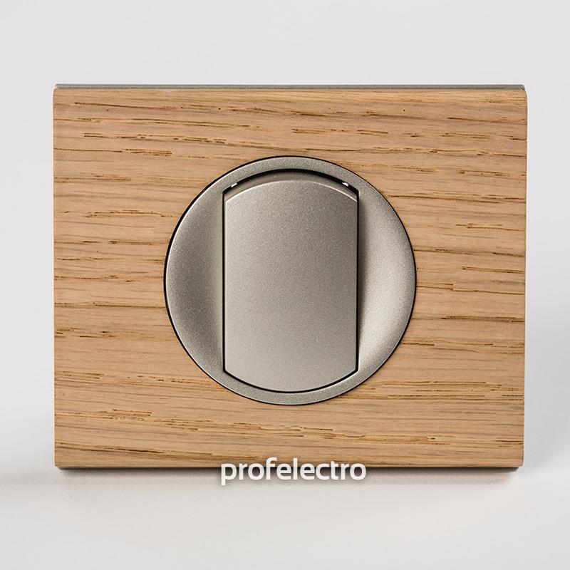 Рамка деревянная беленый дуб-панель титан Celiane