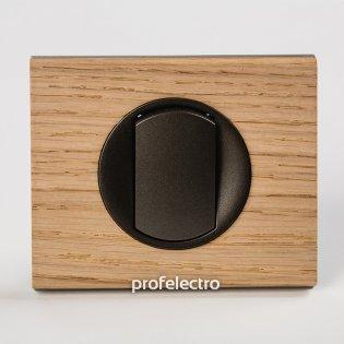 Рамка деревянная беленый дуб-панель графит Celiane Legrand на profelectro.com.ua