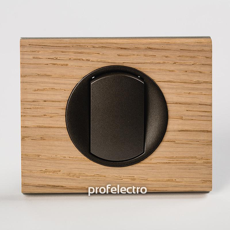 Рамка деревянная беленый дуб-панель графит Celiane