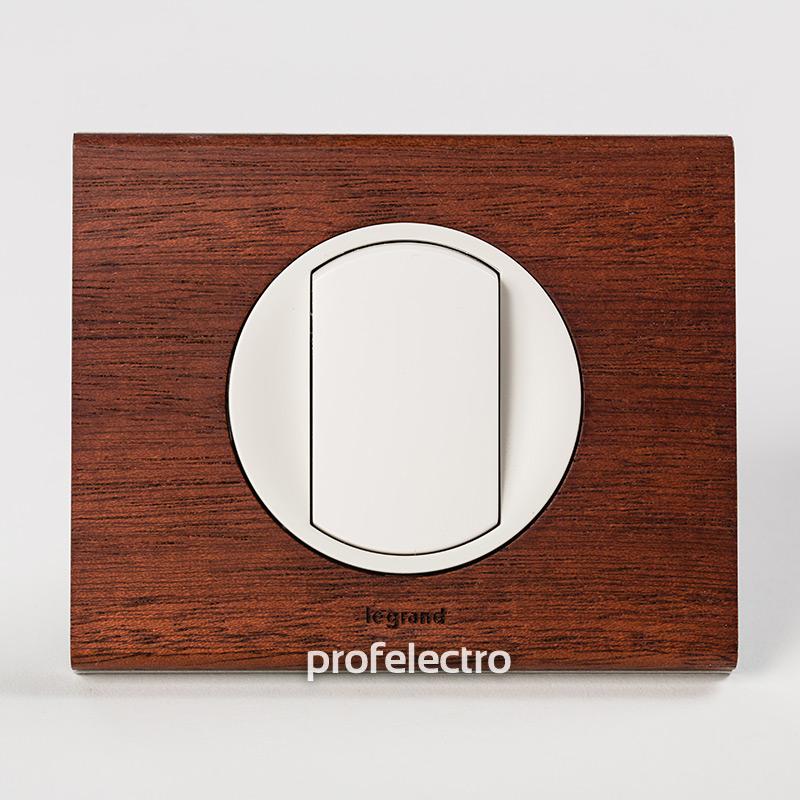 Рамка деревянная орех-панель белая Celiane