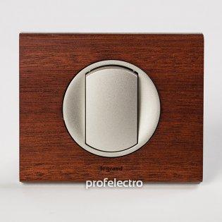 Рамка деревянная орех-панель титан Celiane Legrand на profelectro.com.ua