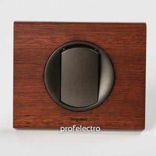 Рамка деревянная орех-панель графит Celiane Legrand на profelectro.com.ua