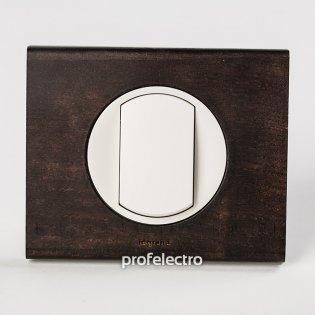 Рамка деревянная венге-панель белая Celiane Legrand на profelectro.com.ua