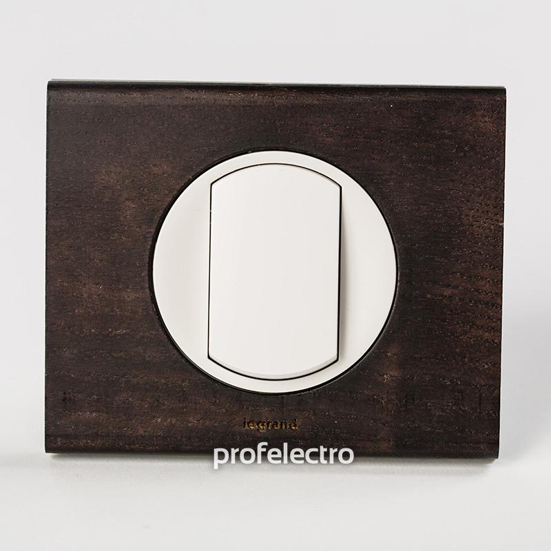 Рамка деревянная венге-панель белая Celiane