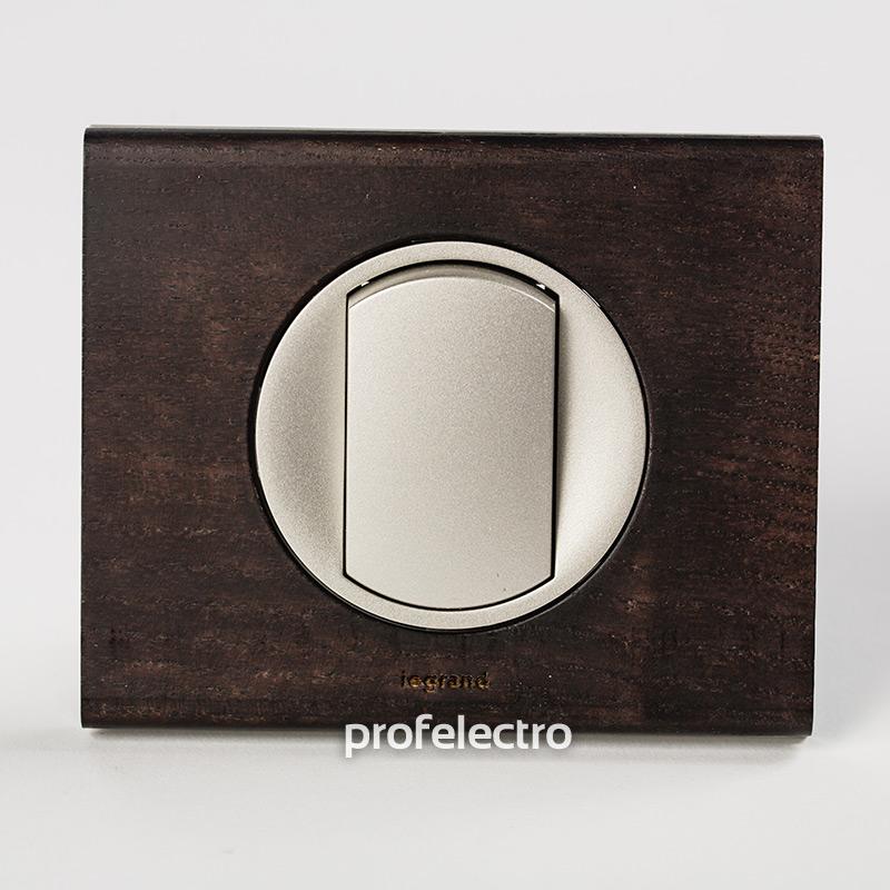 Рамка деревянная венге-панель титан Celiane