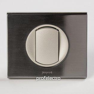 Рамка металлическая цвет фактурная сталь-панель титан Celiane Legrand на profelectro.com.ua