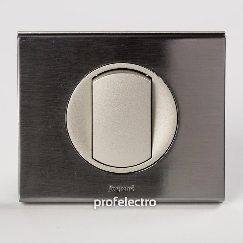 Рамка металлическая цвет фактурная сталь-панель титан Celiane