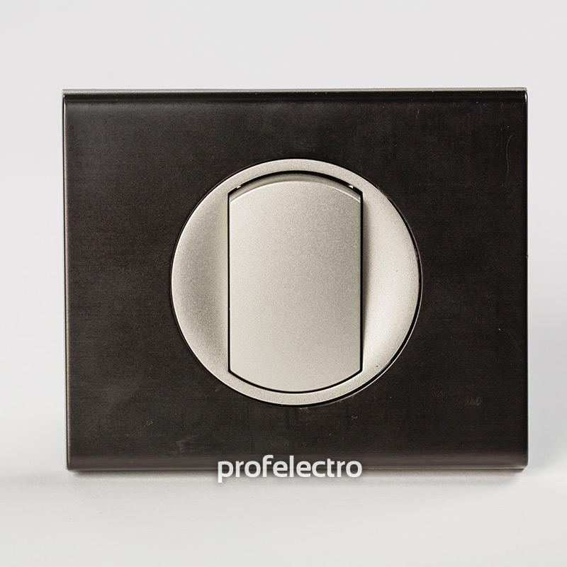 Рамка металлическая цвет черный никель-панель титан Celiane
