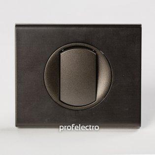 Рамка металлическая цвет черный никель-панель графит Celiane Legrand на profelectro.com.ua