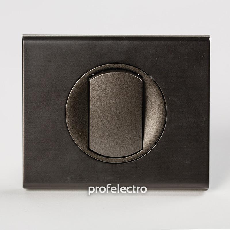 Рамка металлическая цвет черный никель-панель графит Celiane