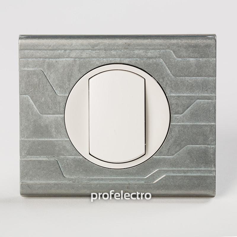 Рамка металлическая орнамент техно-панель белая Celiane