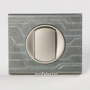 Рамка металлическая орнамент техно-панель титан Celiane Legrand на profelectro.com.ua