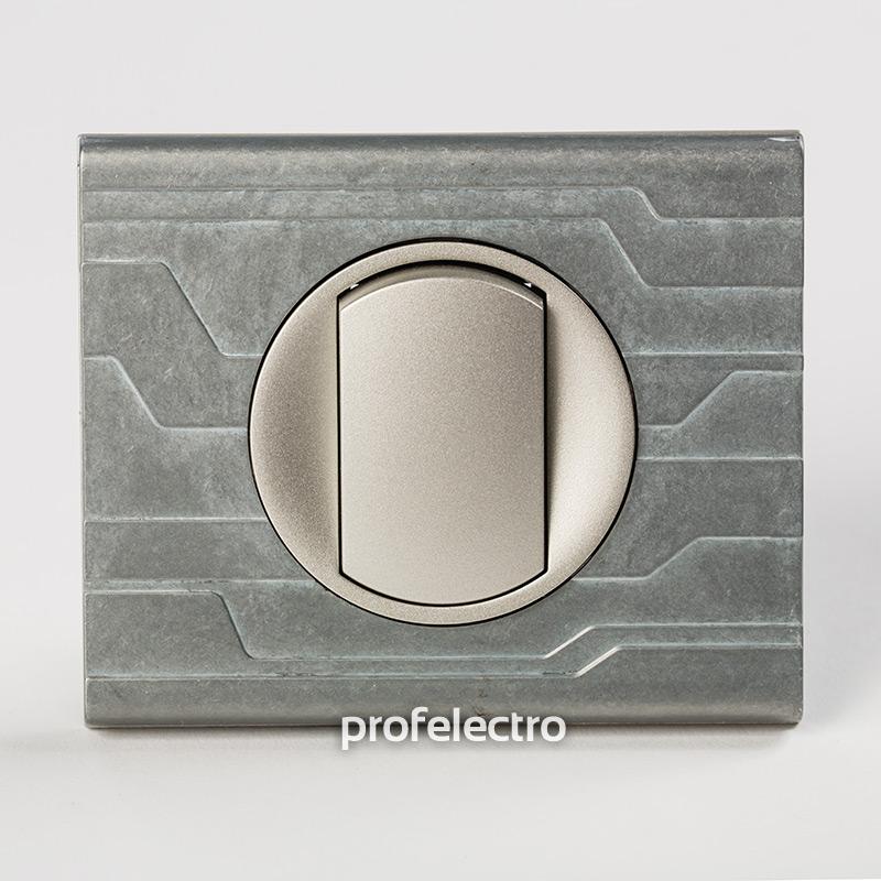 Рамка металлическая орнамент техно-панель титан Celiane