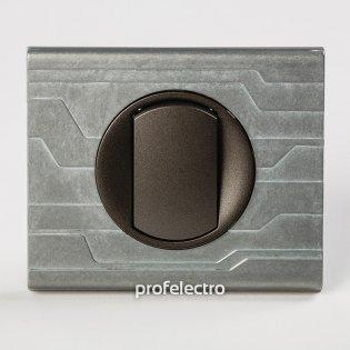 Рамка металлическая орнамент техно-панель графит Celiane Legrand на profelectro.com.ua