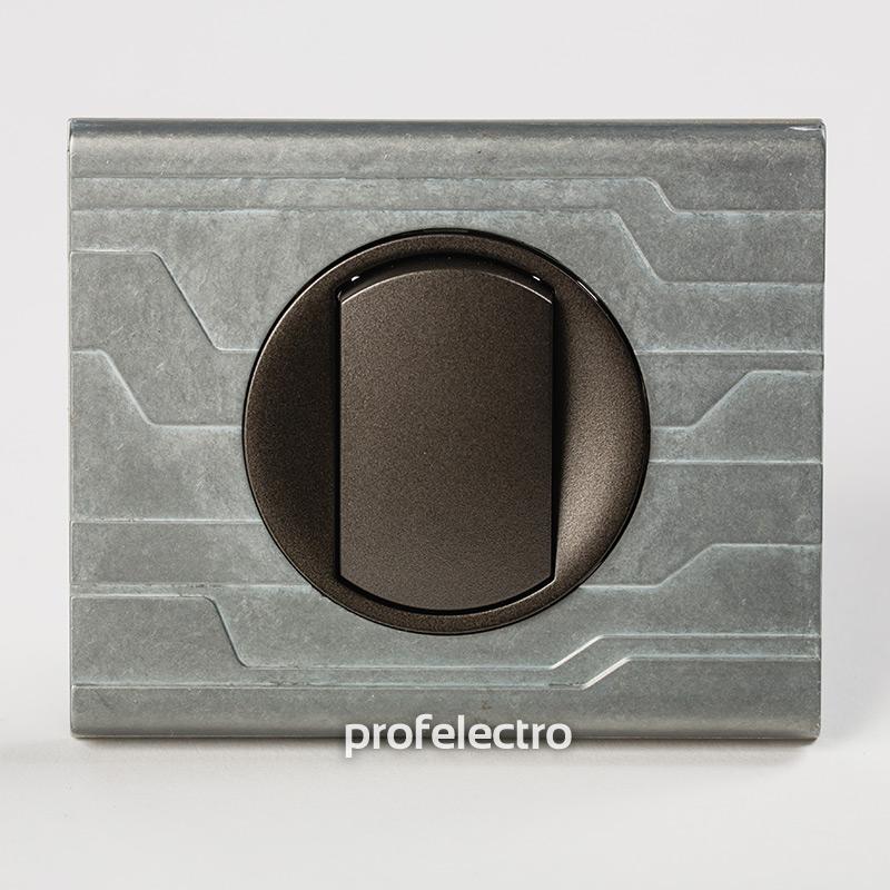 Рамка металлическая орнамент техно-панель графит Celiane