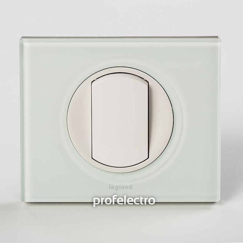 Рамка стеклянная цвет смальта белая глина-панель белая Celiane