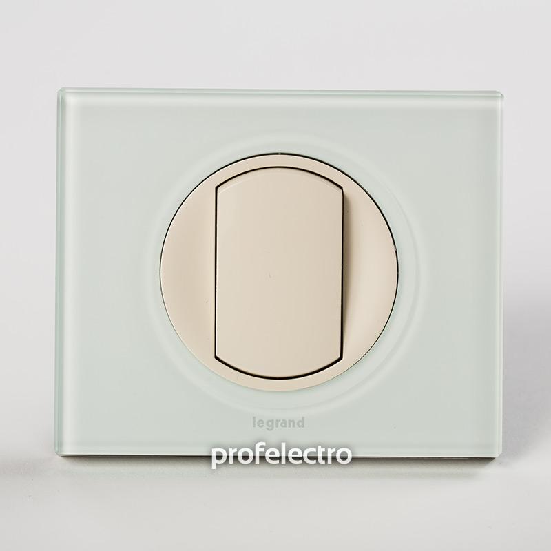 Рамка стеклянная цвет смальта белая глина-панель слоновая кость Celiane