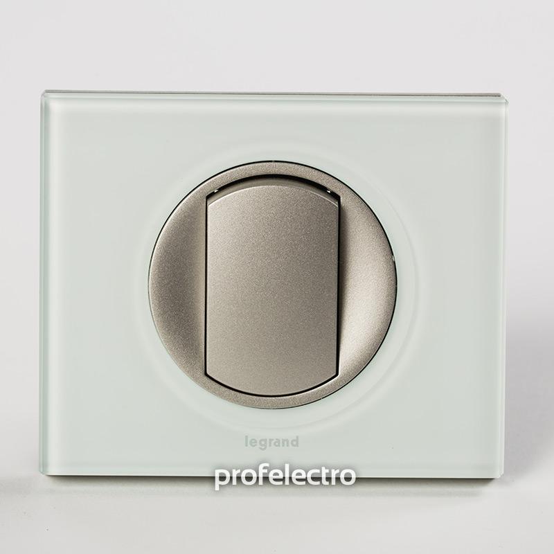 Рамка стеклянная цвет смальта белая глина-панель титан Celiane